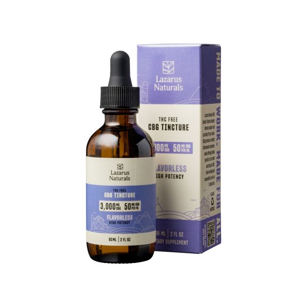 Flavorless CBG Isolate Tincture THC Free High Potency 60ml