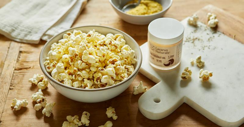 Cheesy CBD Popcorn